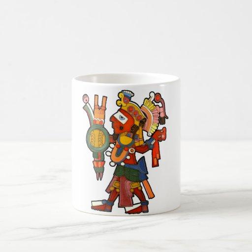 Mug with Mayan indian warrior