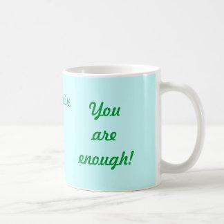 Mug with Name, Quote and Flower /Acqua Motif
