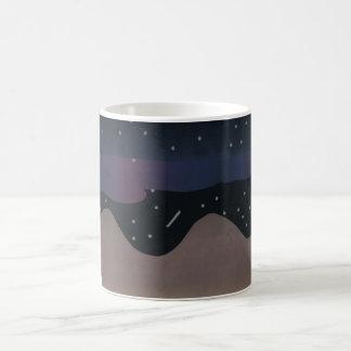 Mug with Nighttime Mountain Scene