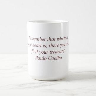 Mug with Paulo Coelho Quote