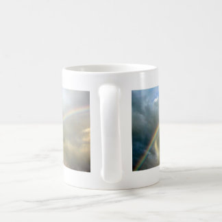 Mug with photo of pretty rainbow