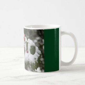 Mug with photography of Holly, Snow