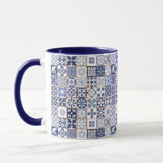 Mug with Portugese Tiles Pattern - Azulejos