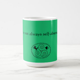 Mug with quote and seal