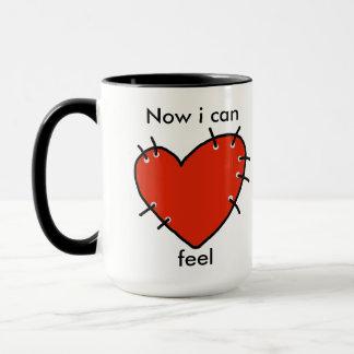 Mug with red heart that make you feel again