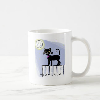Mug with retro cat illustration