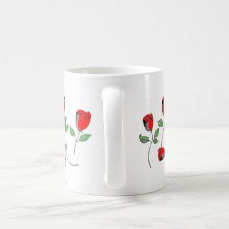 Mug with Rose Art