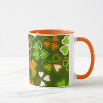 Mug  with  st. Patrick's Day seamless