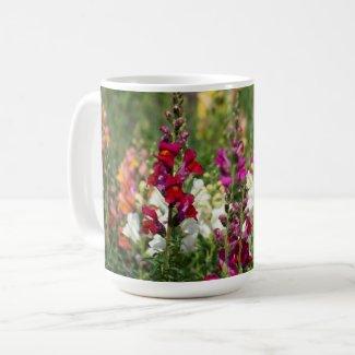 Mug with stately  snapdragon
