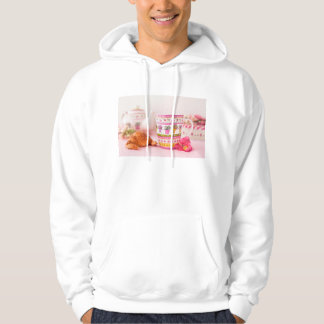 Mug With Tea, Croissant And Flower Pullover