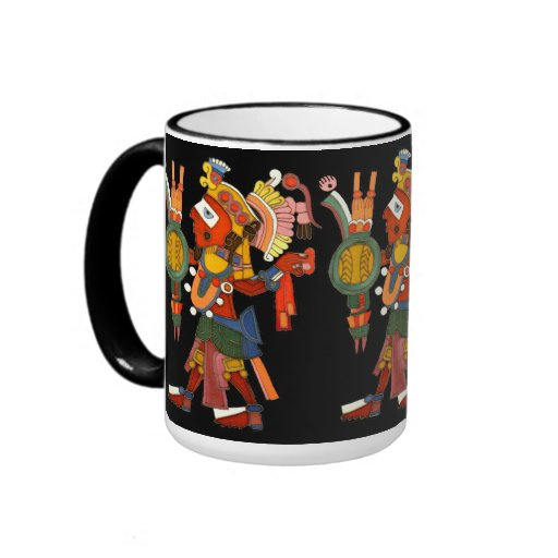 Mug with the cheerful company of the indian Maya w