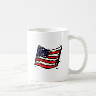 Mug with U S flag and Quotation