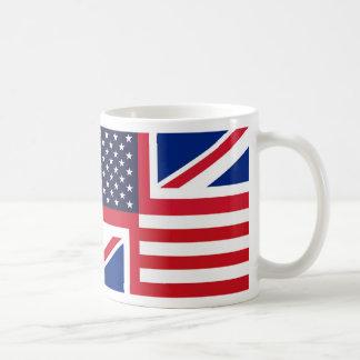 Mug with US and UK flags.