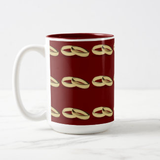 MUG WITH WEDDING RINGS
