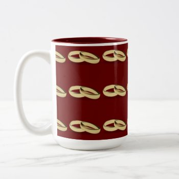 Mug With Wedding Rings by CREATIVEWEDDING at Zazzle