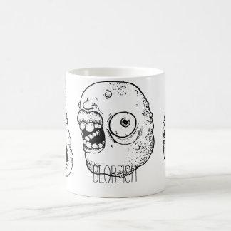 Mug with weird distorted faces