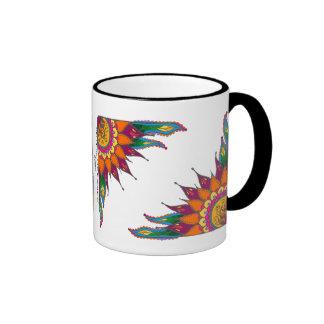 Mug with whimsical  floral  design / Illumination2