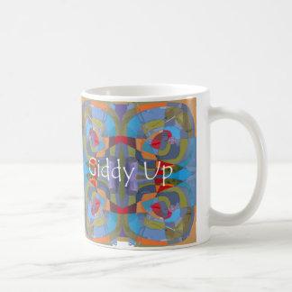 Mug with whimsical Giddy Up design