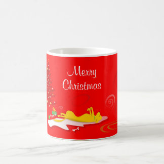 Mug - Yellow Lab Dog Merry Christmas