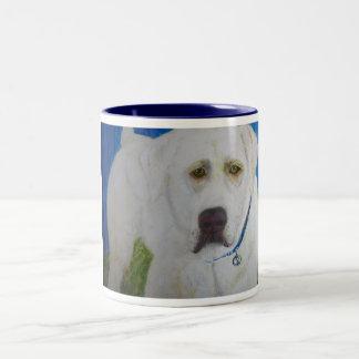 Mug, Yellow Labrador Retriever Art