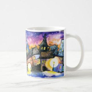 Muge de la ciudad taza de café