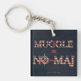 Muggle = No-Maj Keychain