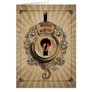 Muggle Worthy Lock With Fantastic Beast Locked In Card