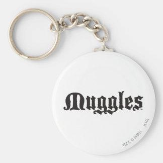 Muggles Basic Round Button Keychain