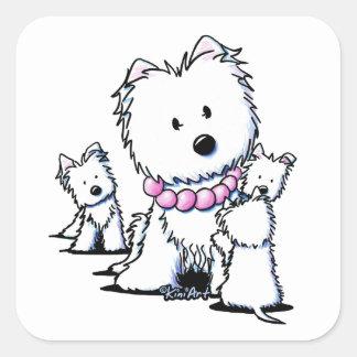 Muggles Mom & Pups Square Sticker