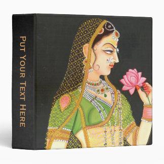 Mughal Art Personalized Name 3 Ring Binder