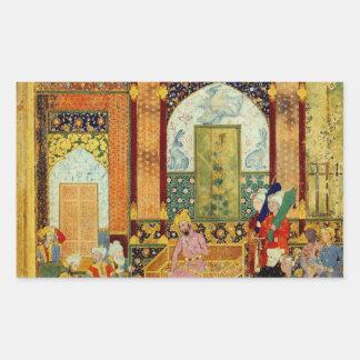 Mughal Art Rectangular Sticker