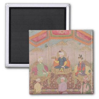 Mughal Emperor Babur and his son, Humayan Magnet
