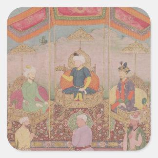 Mughal Emperor Babur and his son, Humayan Square Sticker
