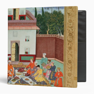 Mughal Emperor Feasting in a Courtyard Vinyl Binder
