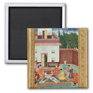 Mughal Emperor Feasting in a Courtyard Magnet