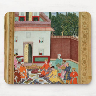 Mughal Emperor Feasting in a Courtyard Mouse Pad