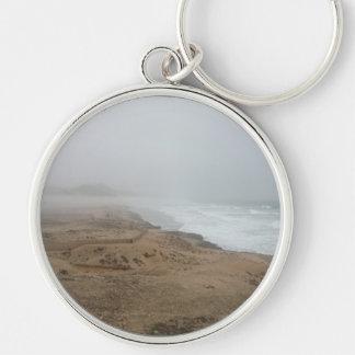 Mughsayl Beach (Salalah Oman) Silver-Colored Round Keychain