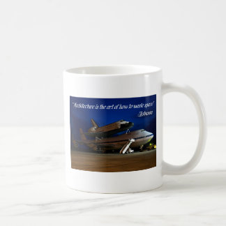 """Mugs, """"Architecture is the art...waste space"""""""