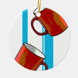 mugs ceramic ornament