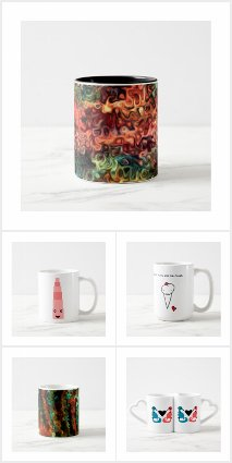 mugs, cups, and glasses