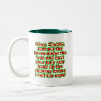Mugs, Cups - Bad Chubby Santa