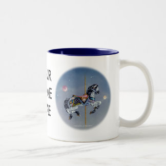 Mugs, Cups - Grey Mare Carousel Horse