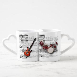 Mugs guitar musical battery
