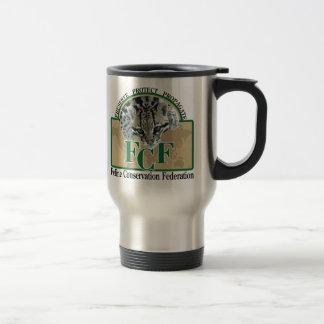 Mugs-logo on left travel mug