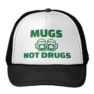 Mugs not drugs trucker hat