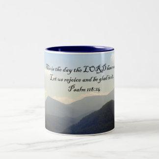 Mugs: Panoramic Smokies View Two-Tone Coffee Mug