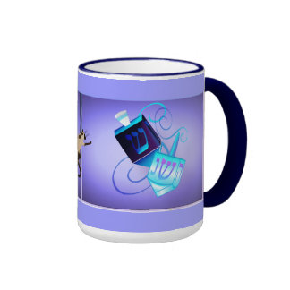 mugs Two Dreidels-Happy Spinning