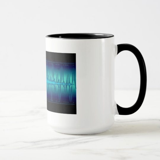 Mugs waves blue