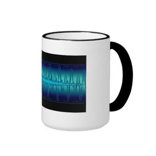 Mugs waves blue