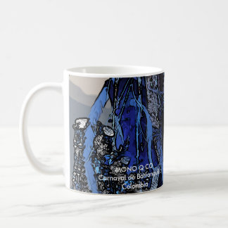 Mugs with images of the carnival of Barranquilla